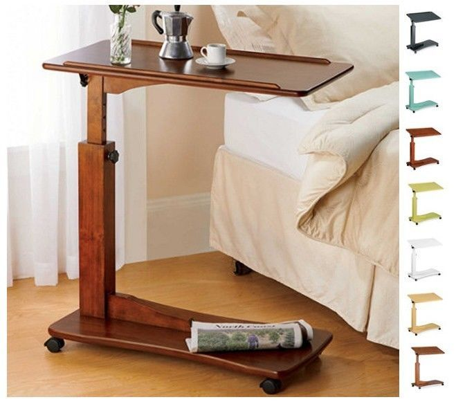 Nightstand Tray On Wheels For Hospital Bed
