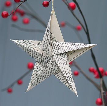 Newspaper Christmas decorations - Newspaper Christmas Decorations Things I'd Like To Make