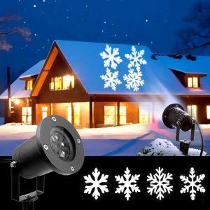 Best Laser Christmas Lights For Outdoor Decoration In 2020 Laser Christmas Lights Snowflake Lights Christmas Lights