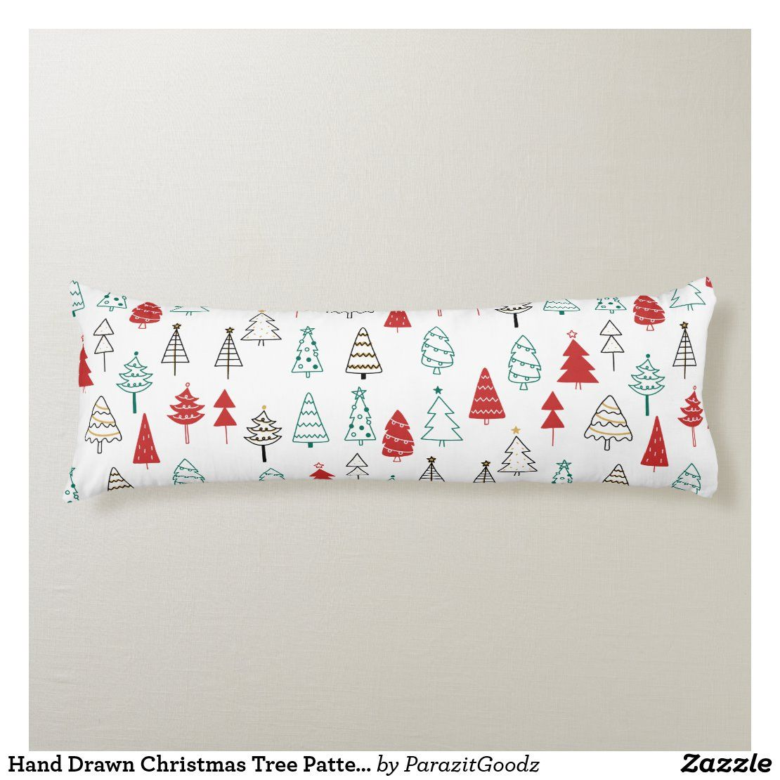 Hand Drawn Christmas Tree Pattern