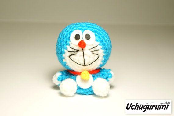 Crochet Doraemon Amigurumi : Doraemon amigurumi 8 cm. por uchugurumi en etsy uchugurumi crochet