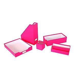 Set de 5 accesorios para escritorio rosa decoraci n - Accesorios para escritorio ...