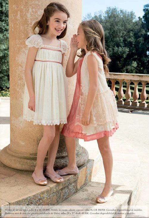vestidos de fiesta para niñas tizzas de el corte inglés primavera verano 2013
