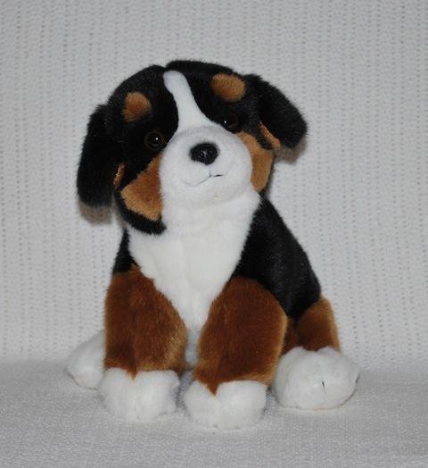 New Bernese Mountain Puppy Dog Soft Plush Stuffed Animal Toys 20cm