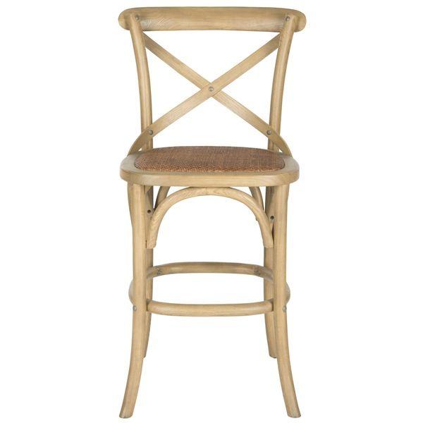 safavieh franklin x back counter stool  oak bar stools