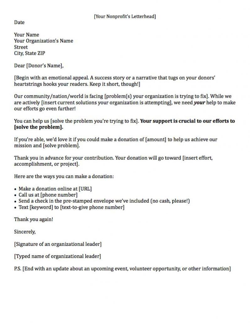 Fundraising Letters 7 Examples To Craft A Great Fundraising Ask