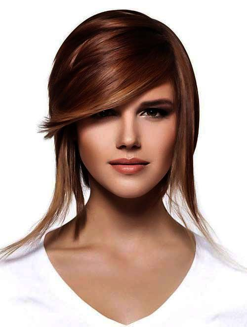 Braune haare kurzhaarfrisur