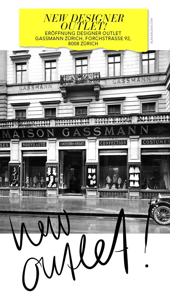 Opening Designer Outlet Gassmann Zurich