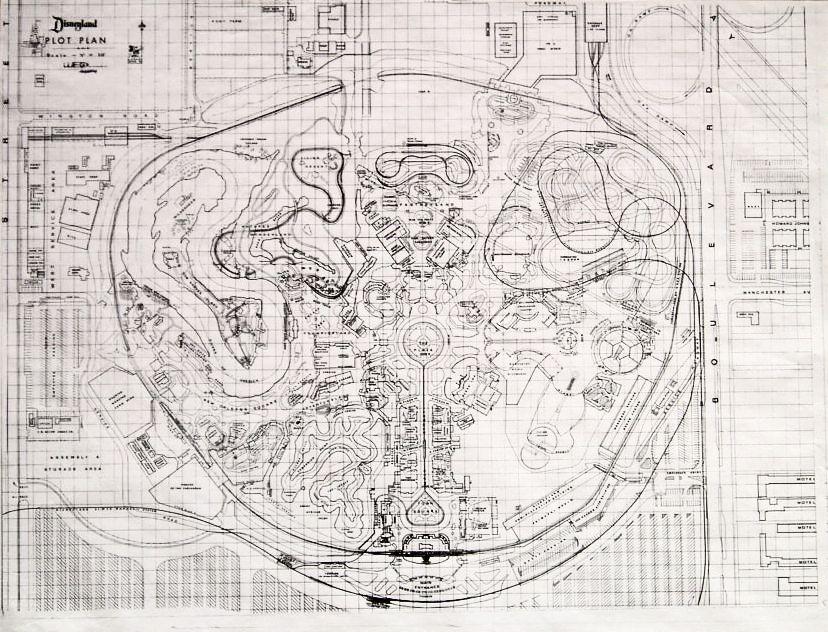 Disneyland plan pre indiana jones theme park layouts for Florida blueprint
