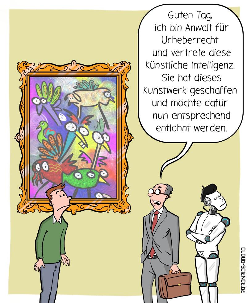 Kann eine Künstliche Intelligenz der Urheber eines ...