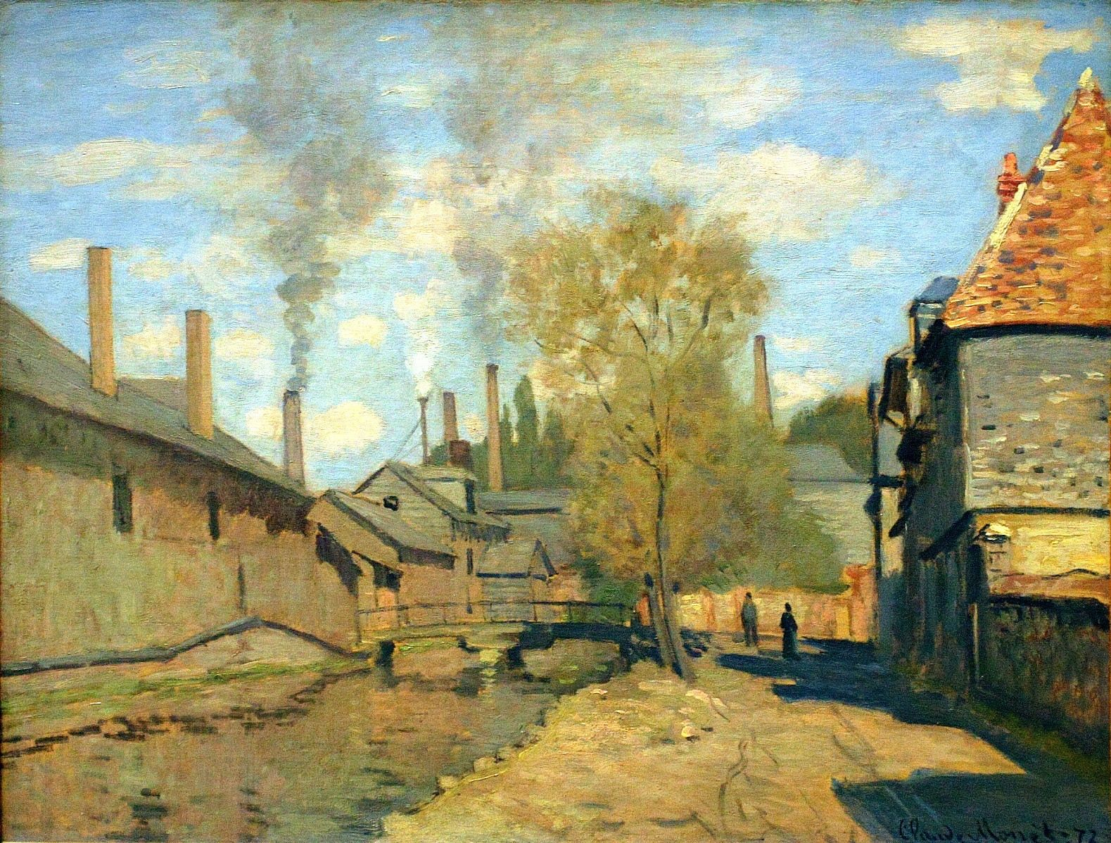 The Stream of Robec, Rouen, 1872 Claude Monet | Artist monet, Monet, Claude  monet