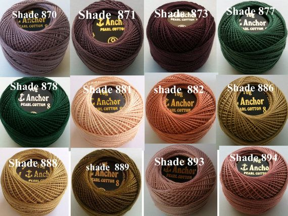 Choose Colours Anchor Cross Stitch Cotton Crochet Embroidery Thread Floss Skien