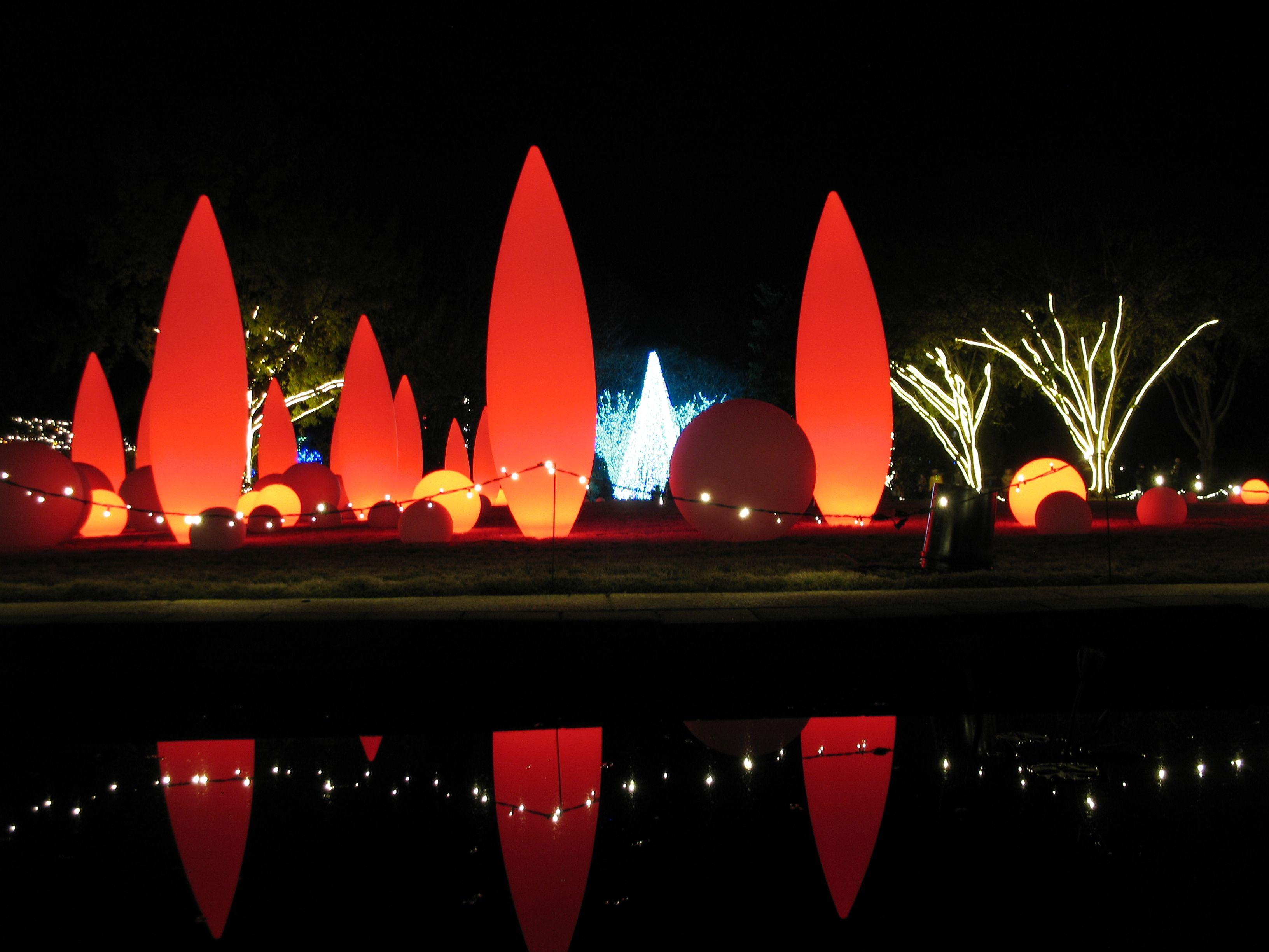 Atlanta Botanical Gardens Light Show Atlanta botanical