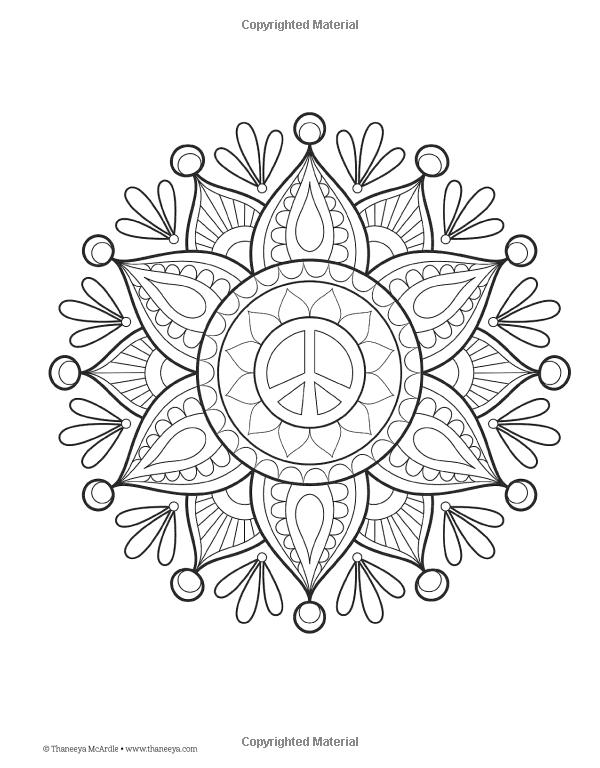 Peace Love Coloring Book Thaneeya McArdle 9781574219630 AmazonSmile Books