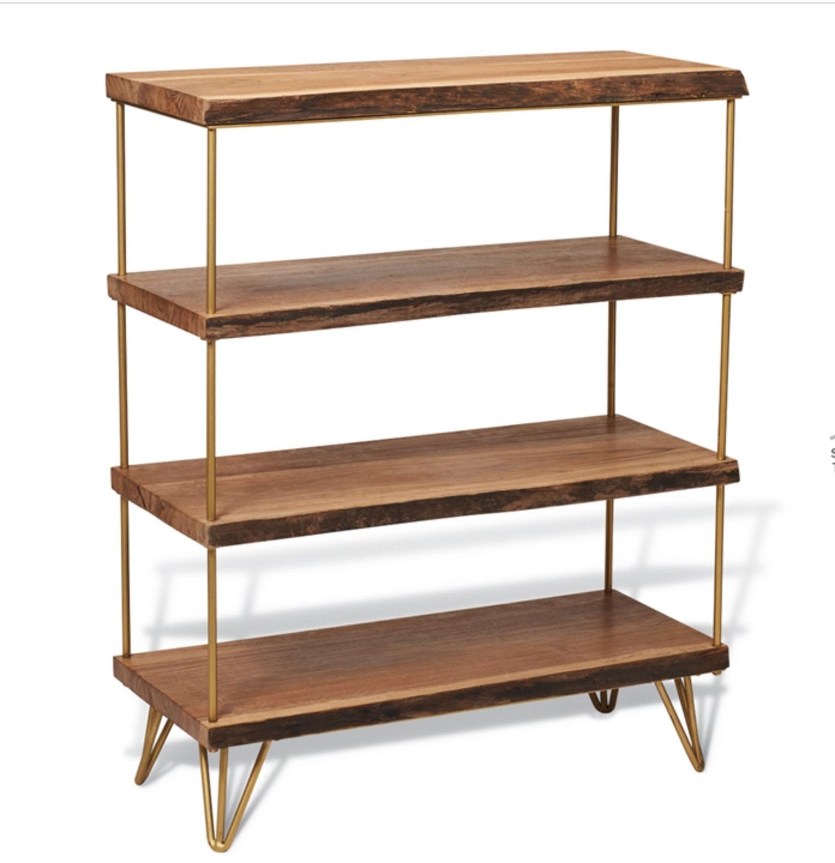 Mid Century Bookshelf w/gold hairpin legs | Homemade | Pinterest ...
