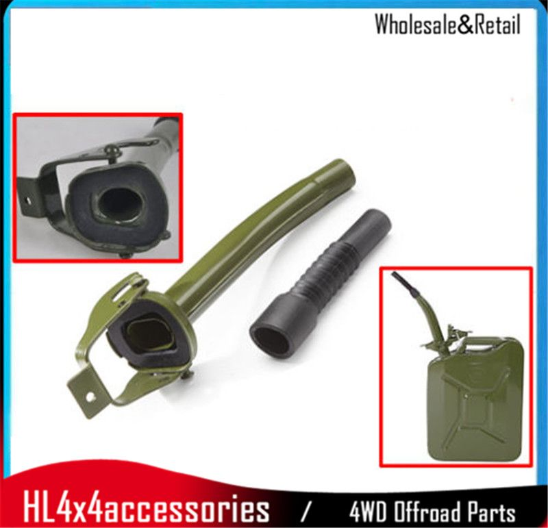 Green Metal Steel Jerry Can Spout Pour For 5l 10l 20l Fuel Petrol Diesel Oil Can 4x4 Offroad Parts Out Door Parts Diesel Oil Jerry Can Petrol