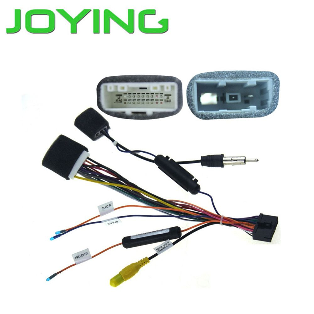 joying car radio install dash stereo wire harness plug cable for nissan affiliate [ 1000 x 1000 Pixel ]