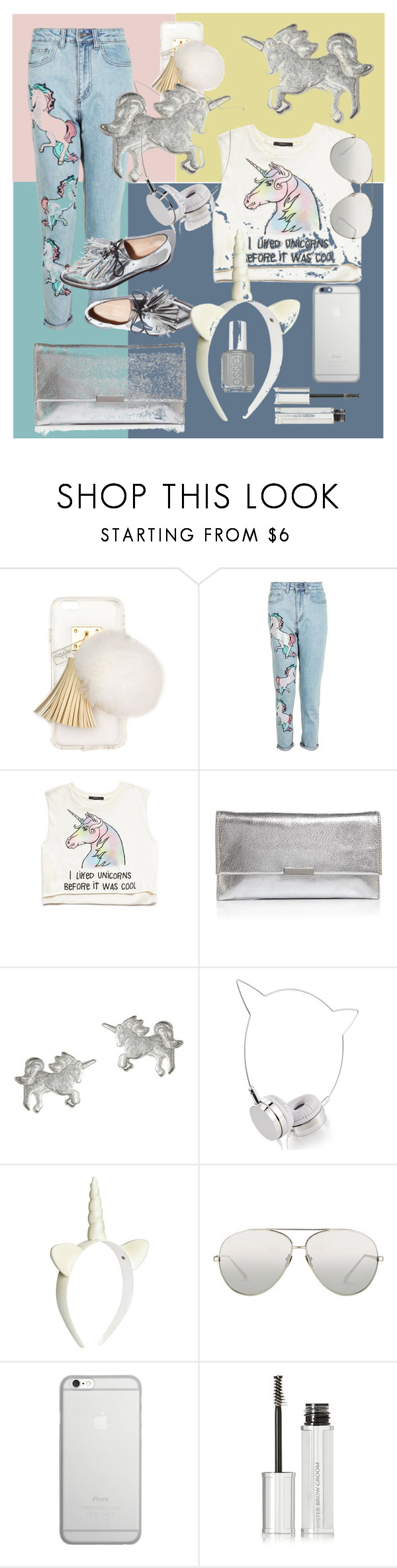 """""""Corn"""" by nikiforenko-katia ❤ liked on Polyvore featuring Ashlyn'd, Topshop, Forever 21, Loeffler Randall, Dogeared, Skinnydip, Linda Farrow, Native Union and Givenchy"""