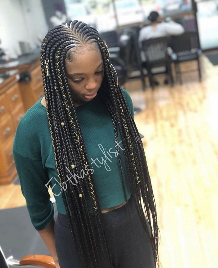 Protective Style For Summer Girls Hairstyles Braids Braided