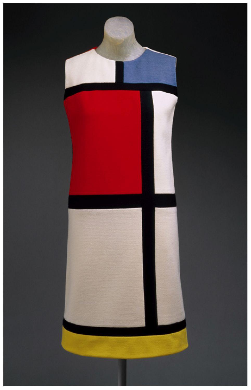 Yves Saint Laurent Mondrian Day Dress Autumn 1965 Mondrian Dress Vintage Fashion Fashion