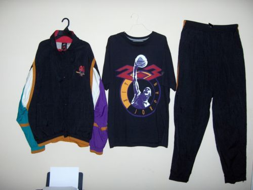 newest d0352 d73ab Nike-Air-Jordan-7-VII-034-OG-034-Hare-Fresh-Prince-Vintage -sweat-suit-track-sz-XL