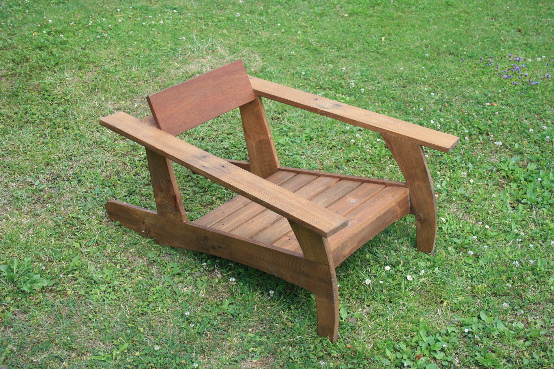 Chaise en bois de palette design ann e 30 outdoor diy Chaise en bois de palette