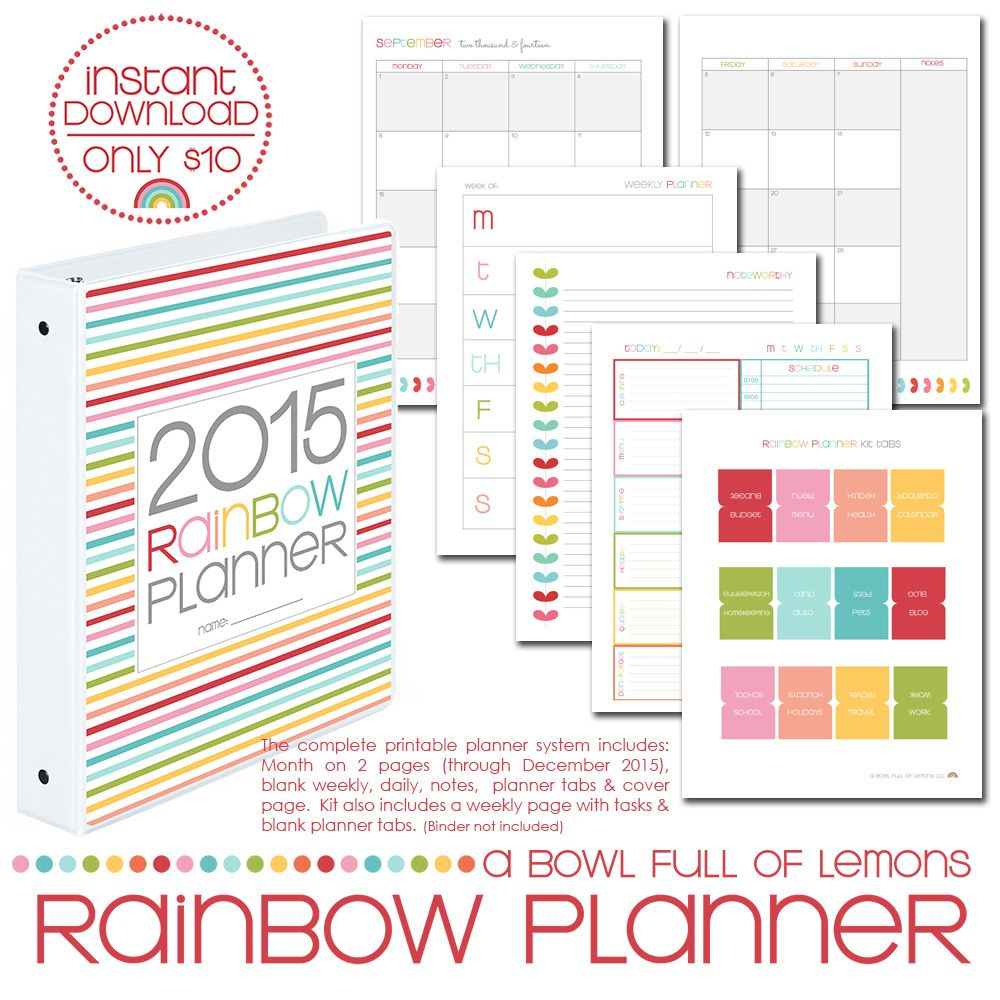 2 page daily planner template