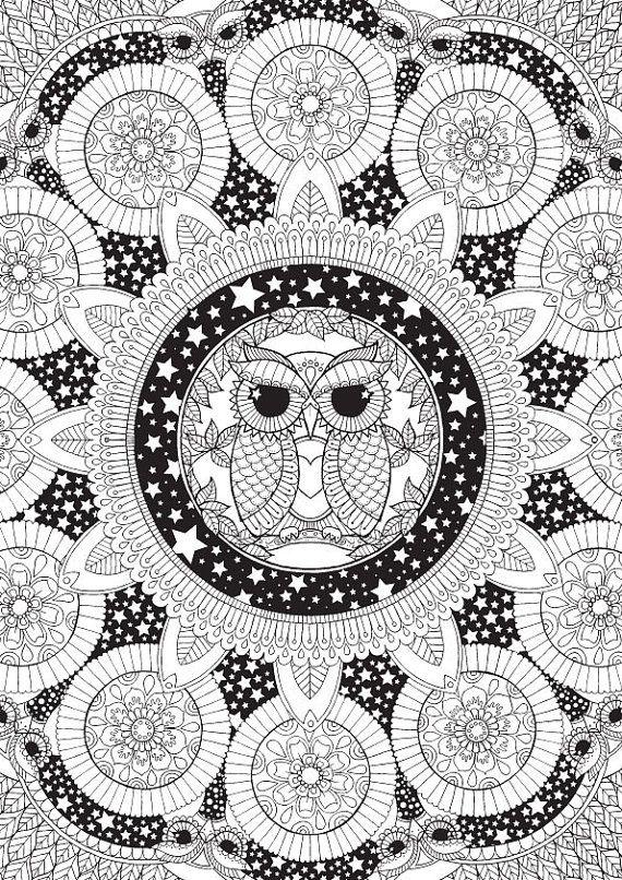owl coloring …   Ausmalbilder   Pinterest   Ausmalbilder, Ausmalen ...