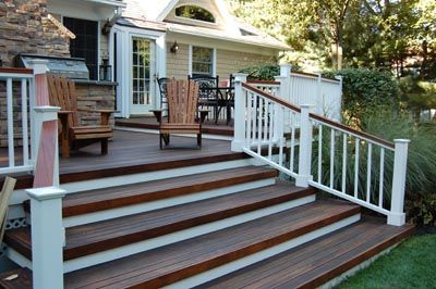 Best Porch Railing White With Wood Top Outdoor Stairs Porch 400 x 300