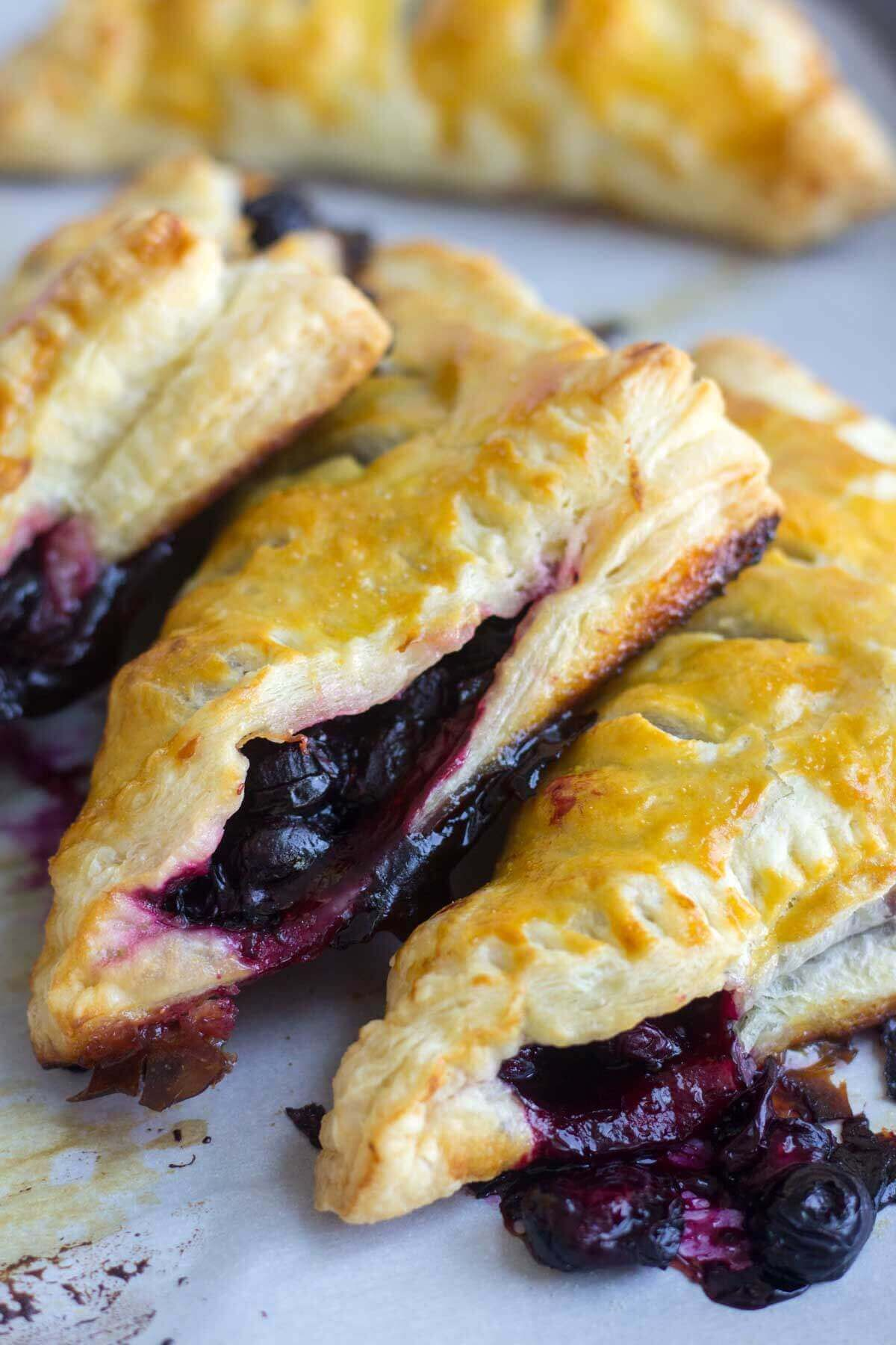 Lemon Blueberry Turnovers | What Molly Made