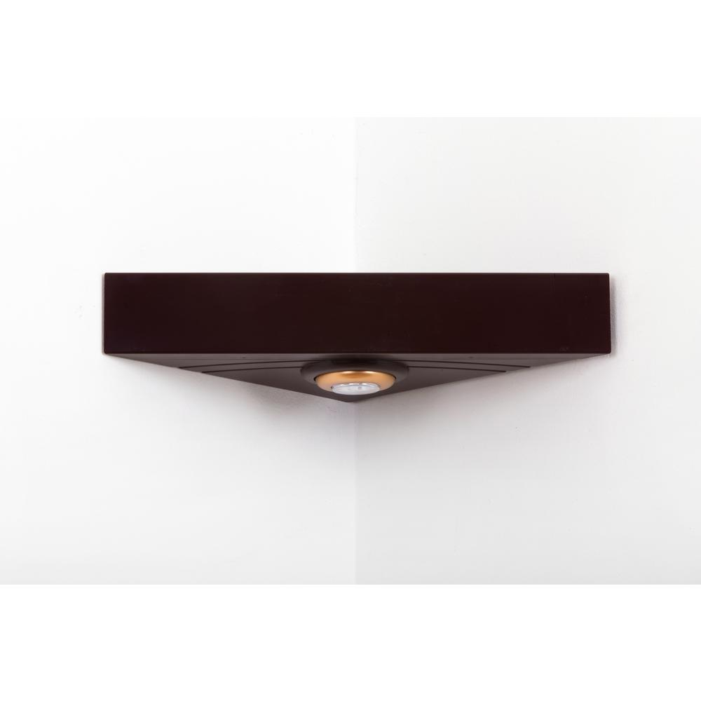 Magic Shelf 16 5 In W X 11 8 In D Floating Brown Corner Shelving System Rsi Cs Bn Corner Shelves Shelving Systems Display Shelves