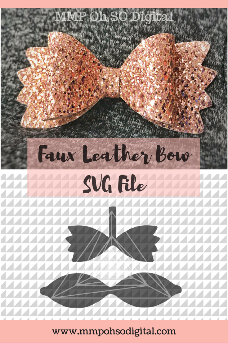 leather bow template svg