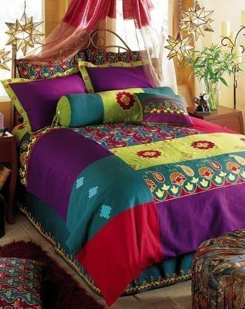 I love this bedding!   interior design   Pinterest   Bohemian, Boho ...