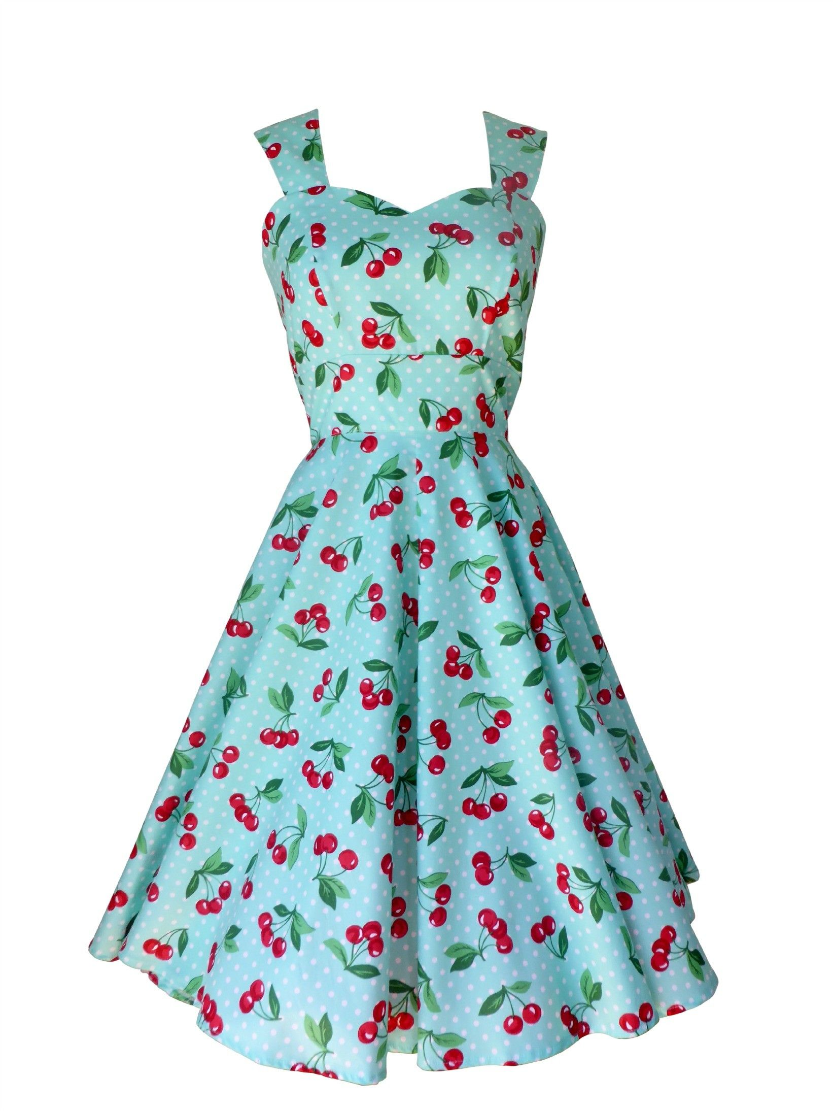Cherry Print Dress | Rockabilly Dresses | Pigtails and Pirates ...