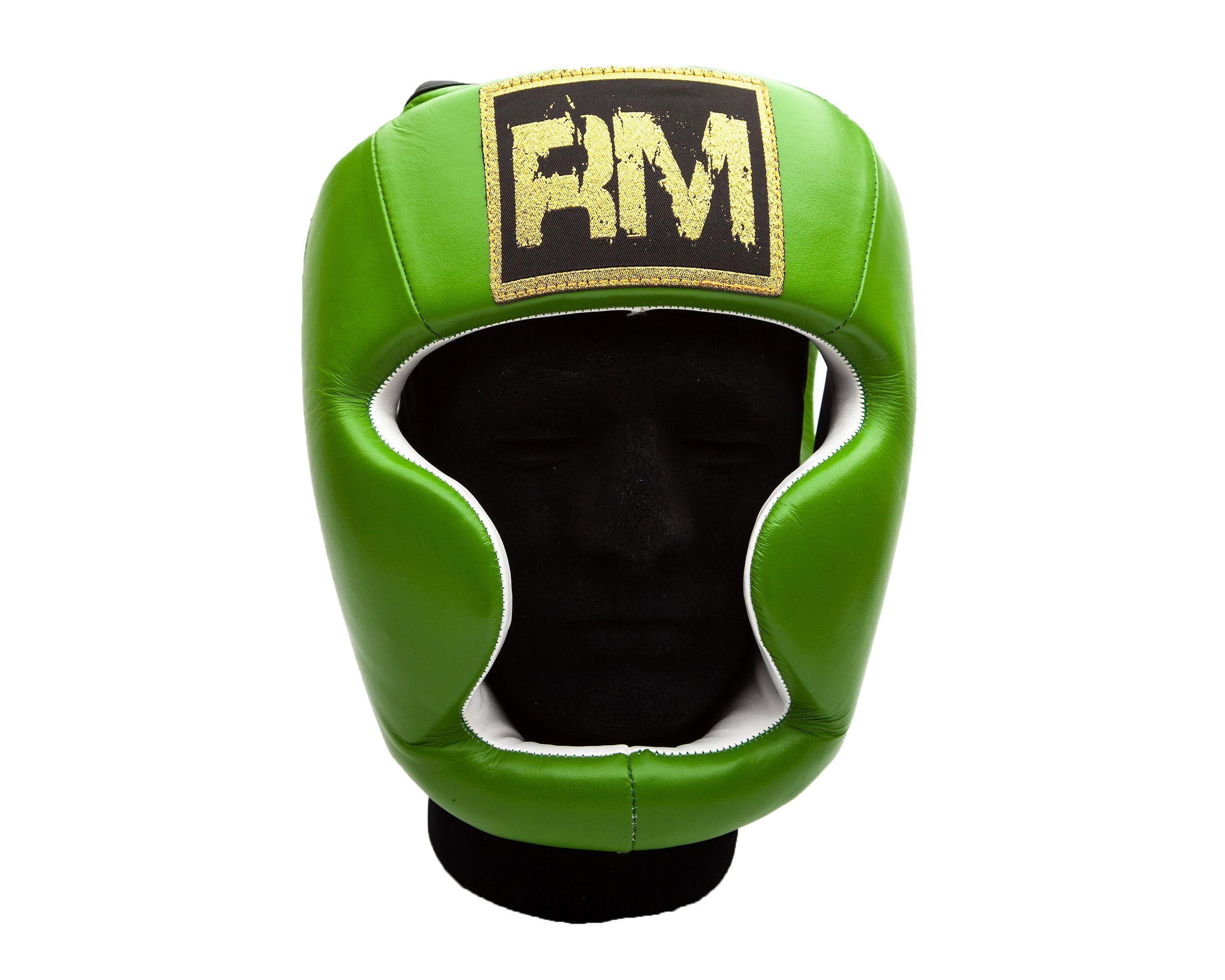 Ringmaster Uk Boxing Headguard Genuine Leather Green Boxing Equipment Mma Training Equipment Leather