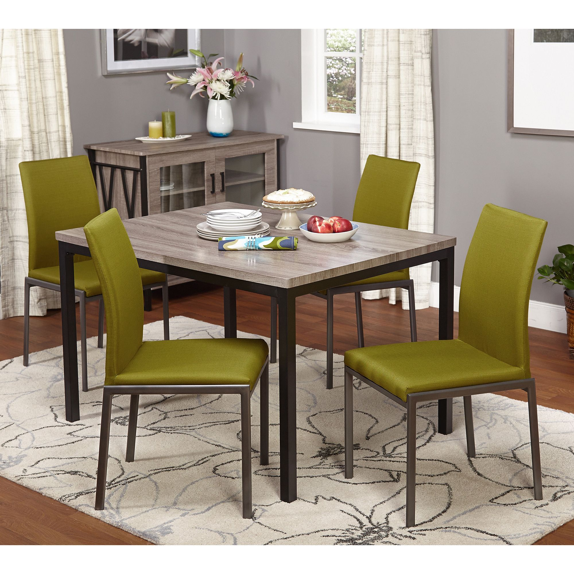 Awesome Simple Living Harrison 5 Piece Dining Set