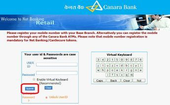 How to Activate Banking in Canara Bank Banking