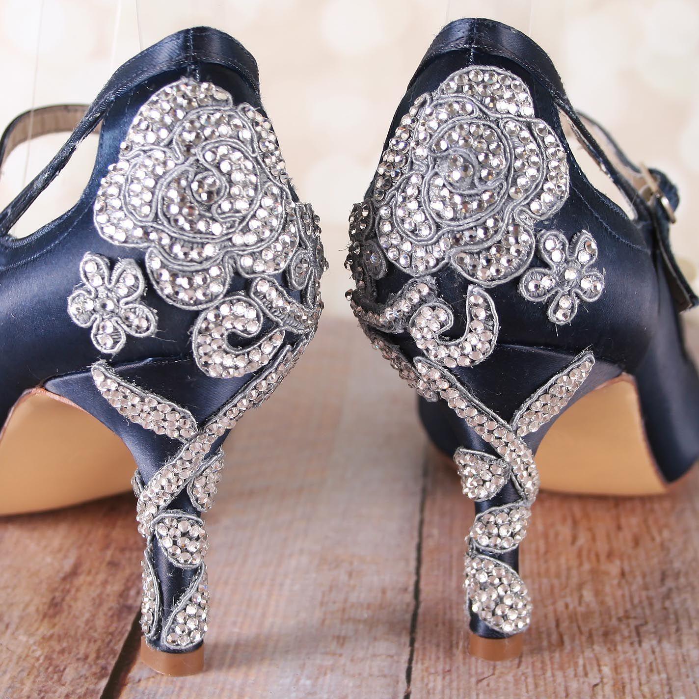 Navy Blue Wedding Shoes, Wedding Bling, Bling Wedding Shoes ...