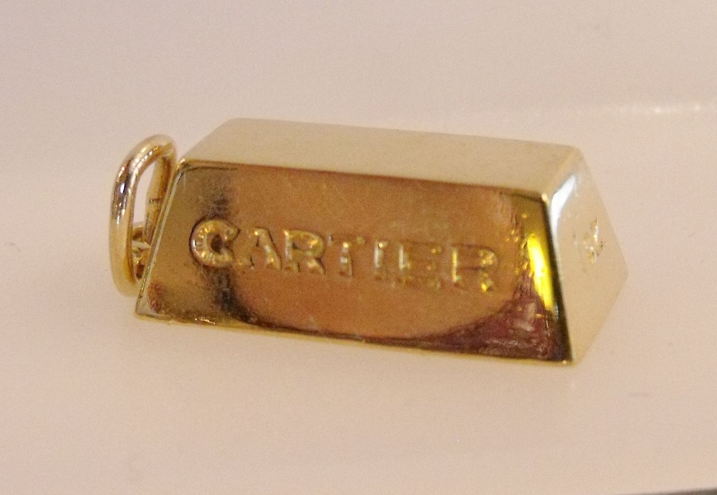 Rare Cartier 1 Oz 18k Yellow Gold Bar Charm Pendant 32 1gr Cartier Gold Vintage Fine Jewelry Gold Bar Necklace