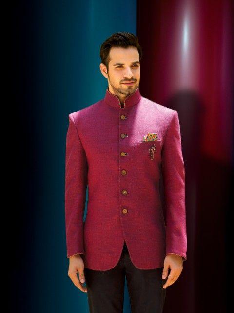 Lilac Rose Jodhpuri Suit Indian Men Fashion Wedding Suits