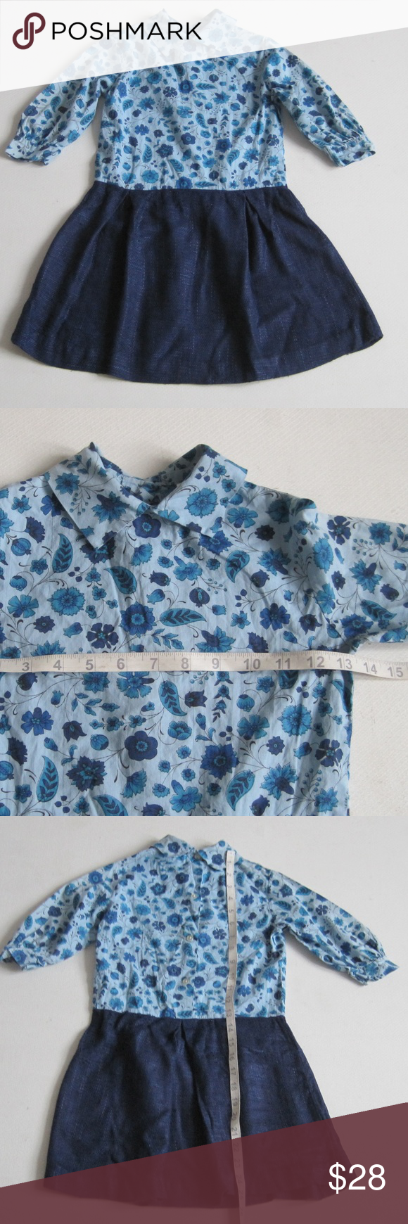 Vintage floral dress size 7 made in USA