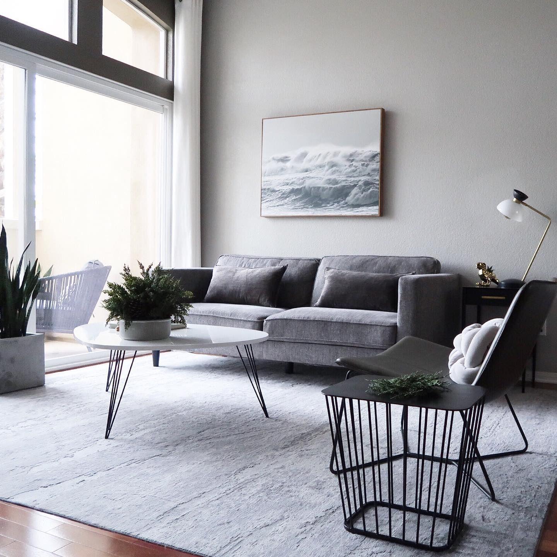 Aquarius Ii Dark Grey 86 Sofa In 2020 Modern Grey Living