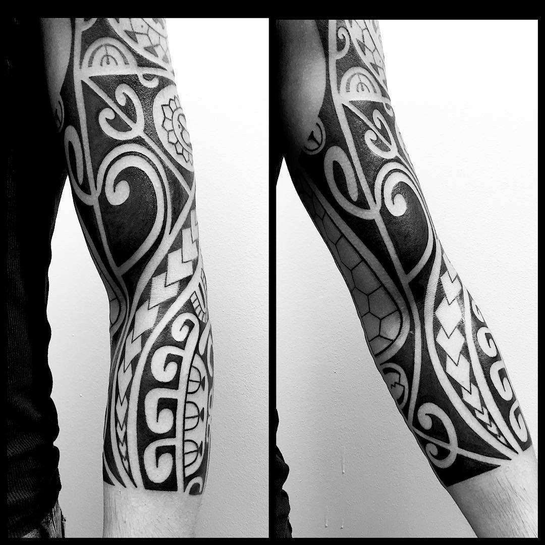Blackwork Tattoo For The Forearm In Tribal Style Tattoos Maori Tattoo Samoan Tattoo