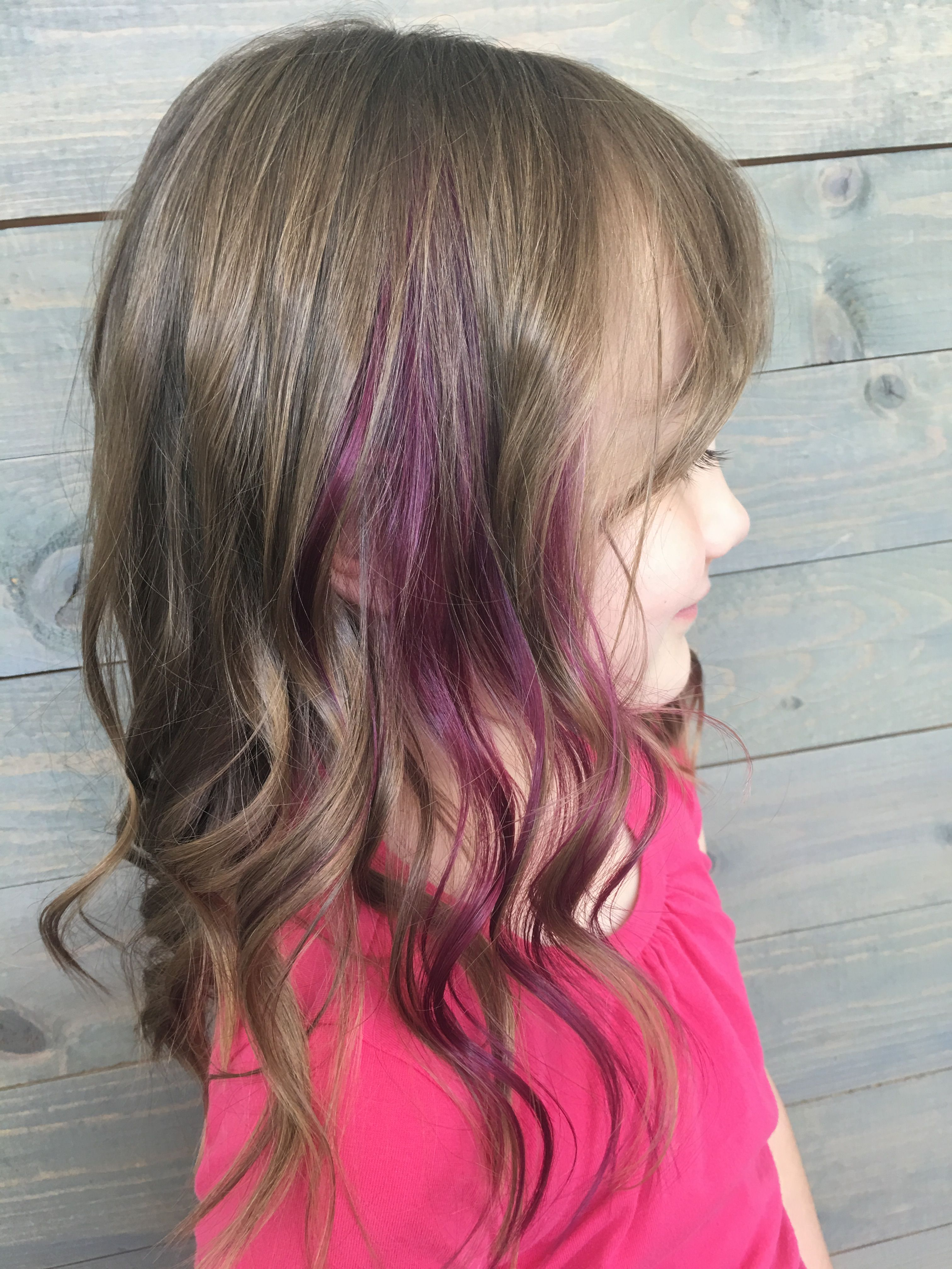 Adorable Little Girl Peekaboo Color Done By Hunter Halverson At Image Studios In South Jordan Ut Kids Hairstyles Girl Hairstyles Beauty