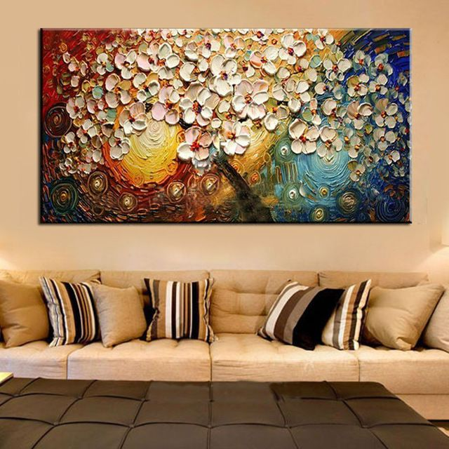 Unframed pintado m o canvas wall art pintura abstrata for Pintura acrilica moderna