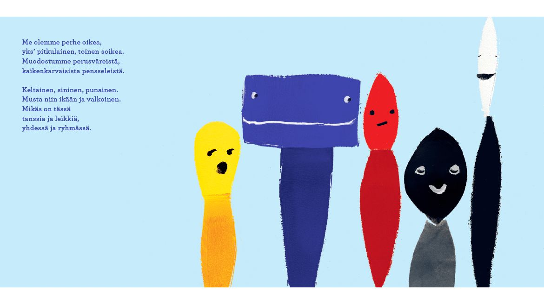 Colouring Sea (Värejä Meressä), text and illustrations by Jenni Erkintalo, published by Etana Editions   Phileas Fogg Agency