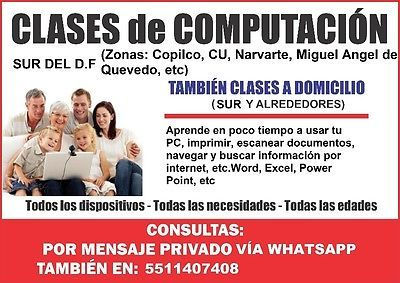 Profesor de computación a domicilio, Copilco, Coyoacan, CU, D.F  #Profesor, #Computacion, #Domicilio, #Copilco, #Coyoacan