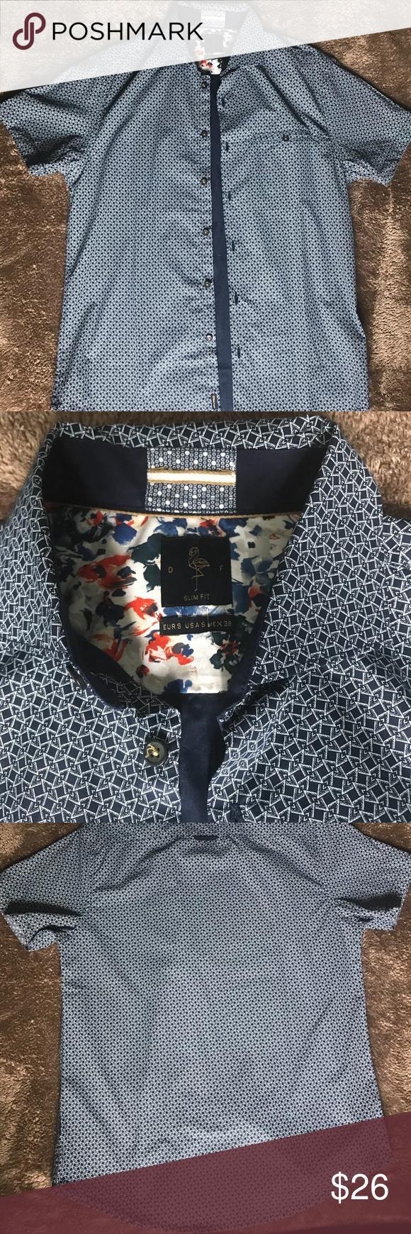 7bd40a9a03 Denim   Flower Ricky Singh Short Sleeve Button Up A button down shirt by  Denim   Flower. Very lightweight Denim   Flower Shirts Casual Button Down  Shirts