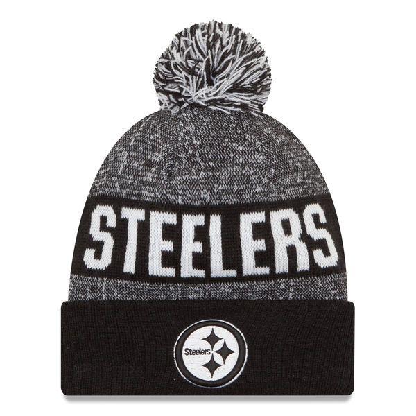 Pittsburgh Steelers New Era Sport Knit Hat - Black White -  24.99 ... e351d0d85641