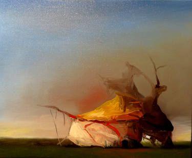 Expressionist painting by Joseba Eskubi